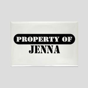 Property of Jenna Rectangle Magnet