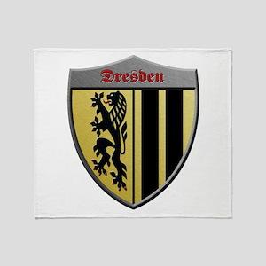 Dresden Germany Metallic Shield Throw Blanket
