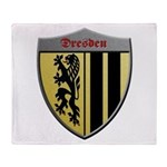 Dresden Germany Metallic Shield Throw Blanket