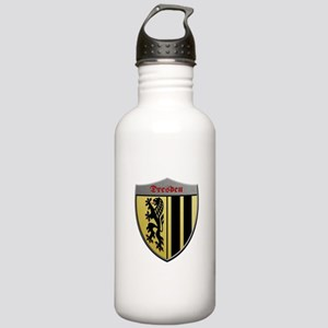 Dresden Germany Metallic Shield Water Bottle