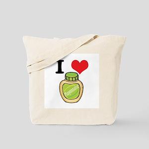 I Heart (Love) Mayonnaise (Mayo) Tote Bag