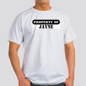 Property of Jayne Ash Grey T-Shirt