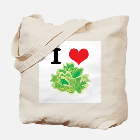 I Heart (Love) Lettuce Tote Bag