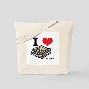 I Heart (Love) Lasagna Tote Bag
