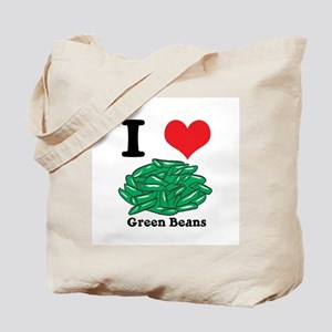 I Heart (Love) Green Beans Tote Bag