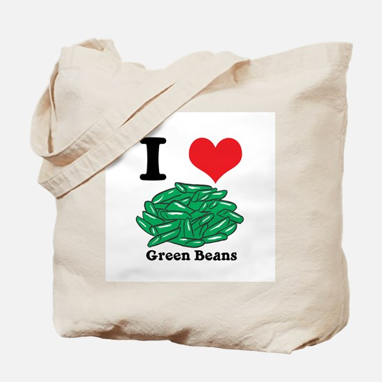 I Heart (Love) Green Beans Tote Bag
