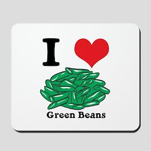 I Heart (Love) Green Beans Mousepad