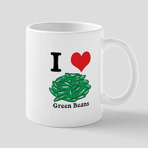 I Heart (Love) Green Beans Mug