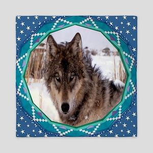 Geometric Wolf Queen Duvet