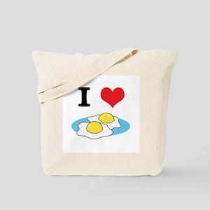I Heart (Love) Fried Eggs Tote Bag