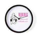 What Would Martha Do Wall Clock