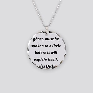An Idea Dickens Necklace Circle Charm