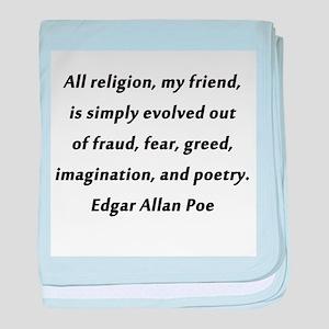 All Religion Poe baby blanket