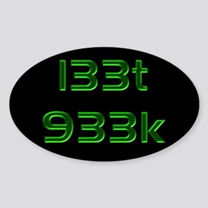 l33t 933k - Oval Sticker
