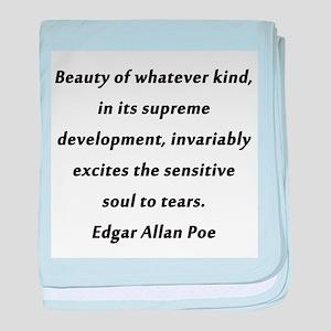 Beauty Poe baby blanket
