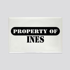 Property of Ines Rectangle Magnet
