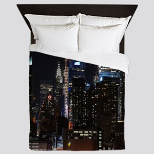 New York City Skyline Queen Duvet