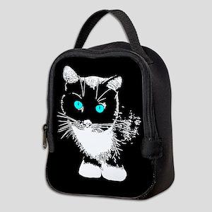 Blue Eyed Cat Neoprene Lunch Bag