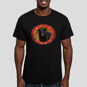 Geometric Bear Men's Fitted T-Shirt (dark)
