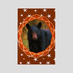 Geometric Bear Rectangle Magnet