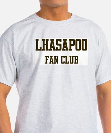Lhasapoo Fan Club Ash Grey T-Shirt