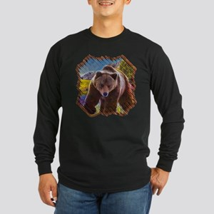 Grizzly Bear Territory Long Sleeve Dark T-Shirt