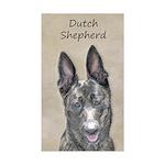 Dutch Shepherd Sticker (Rectangle)