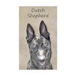 Dutch Shepherd Sticker (Rectangle 50 pk)
