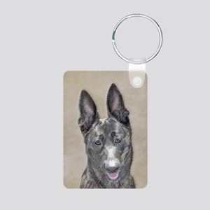 Dutch Shepherd Aluminum Photo Keychain