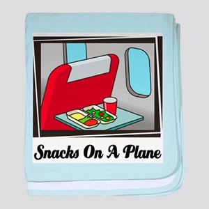 Snacks On A Plane baby blanket