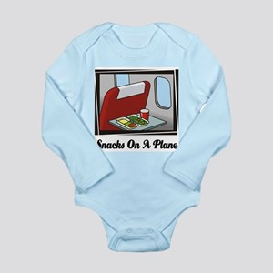 Snacks On A Plane Long Sleeve Infant Bodysuit