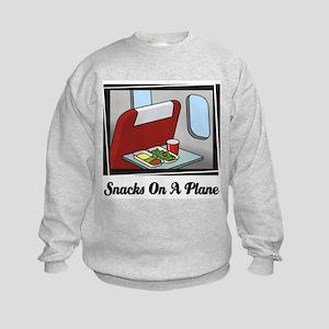 Snacks On A Plane Kids Sweatshirt