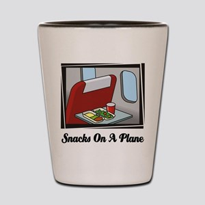 Snacks On A Plane Shot Glass