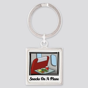 Snacks On A Plane Square Keychain