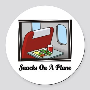 Snacks On A Plane Round Car Magnet