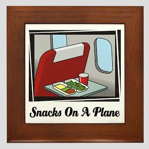 Snacks On A Plane Framed Tile
