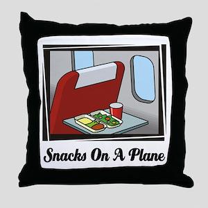Snacks On A Plane Throw Pillow