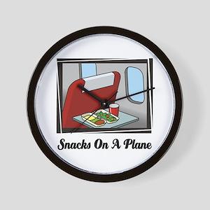 Snacks On A Plane Wall Clock
