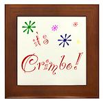 It's The Crimbo Framed Tile