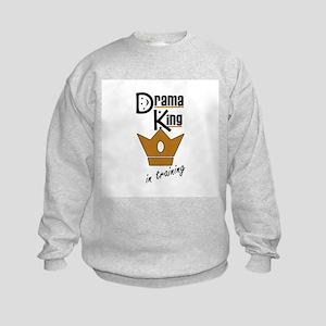 Drama King In Training Kids Sweatshirt