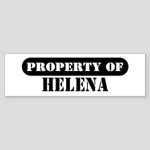 Property of Helena Bumper Sticker