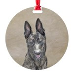 Dutch Shepherd Round Ornament