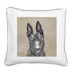 Dutch Shepherd Square Canvas Pillow