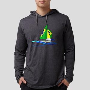 Brazil 470 Class Sailing Mens Hooded Shirt