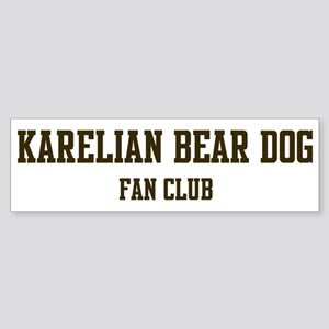 Karelian Bear Dog Fan Club Bumper Sticker