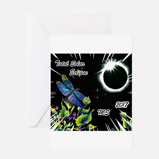 Dragonfly Eclipse_MS Greeting Cards