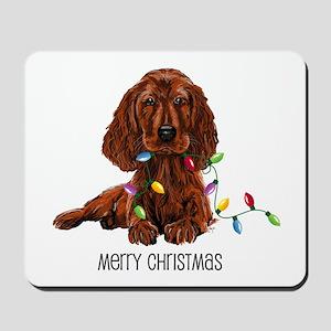 Christmas Irish Setter Mousepad