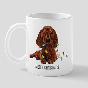 Christmas Irish Setter Mug