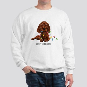 Christmas Irish Setter Sweatshirt