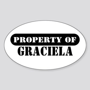 Property of Graciela Oval Sticker